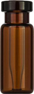 Crimp neck vial, N 11, 11,6×32,0 mm, amber, 0,2 ml insert