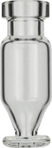 Crimp neck vial, N 11, 11,6×32,0 mm, 1,1 ml, conical and round pedestal, clear