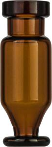 Crimp neck vial, N 11, 11,6×32,0 mm, 1,1 ml,conical and round pedestal, amber