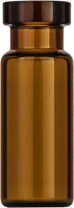 Crimp neck vial, N 11, 11,6×32,0 mm, 1,5 ml, flat bottom, amber