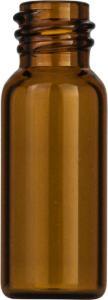 Screw neck vial, N 8, 11,6×32,0 mm, 1,5 ml, flat bottom, amber