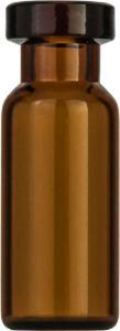 Crimp neck vial, N 11, 11,6×32,0 mm, 1,5 ml, small opening, flat bottom, amber
