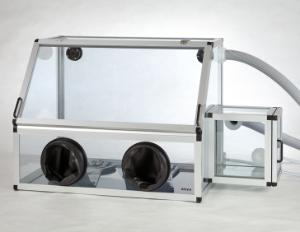 Glove box, anti-static, with transfer chamber, BOLA