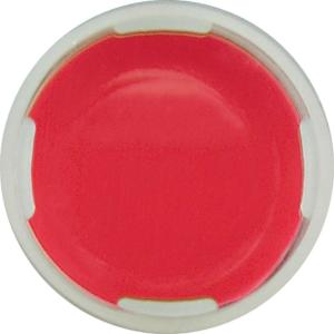 Snap ring closure, N 11, PE(hard), tr., centre hole,PTFE red/Silic. w./PTFE red,1,0 mm